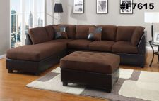 Buy New Microfiber Sectional Sofa Couch Set FREE Ottoman 3 pc Living room set #F7615