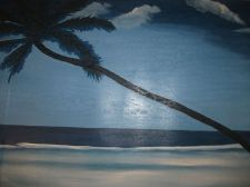 Buy Moonlight original print painting unframed canvas. sale end 9th march. decor