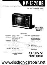 Buy Sony KV1320UB Manual by download Mauritron #327956