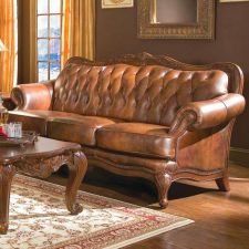 Buy Formal Leather Sofa & 2 Chairs 3Pc Traditional Luxury Living Room Sofas Couch