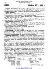 Buy BUSH. AC2. VINTAGE WIRELESS. SERVICE SHEETS. by download Mauritron #327301