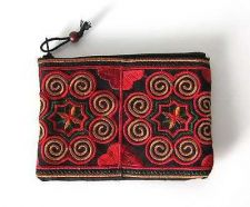 Buy Multi-color Clutch Hmong Hill Tribe Embroidered Fabric Purse Bag