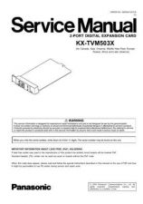 Buy Panasonic TVM503X Manual by download Mauritron #302455