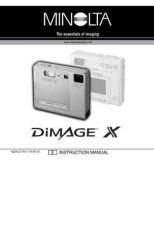 Buy Minolta DI X UK HW Camera Operating Guide by download Mauritron #320919