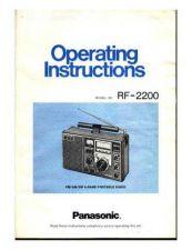 Buy Panasonic RF2200 Radio User Guide by download Mauritron #320220