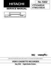 Buy Hitachi VTMX310EUK Service Manual by download Mauritron #329383