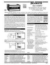 Buy Texmate DU-45MV (DU17)L9-8-03 Instructions by download #336522