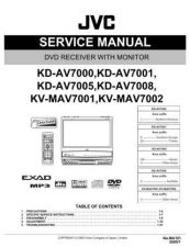 Buy JVC KD-AV7000 Service Manual Circuits Schematics by download Mauritron #274848