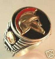 Buy SPARTAN Helmet Mens Signet ring Sterling Silver Lge.