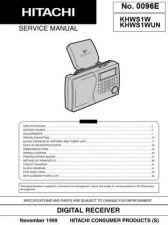 Buy Hitachi KHWS1W Service Manual by download Mauritron #290447