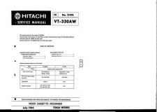 Buy Hitachi VT-F333A-F330AW-3 Service Manual by download Mauritron #287165