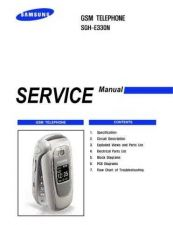Buy Samsung SGH-E330N Mobile Phone Service Manual by download Mauritron #306323