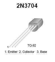 Buy Transistor - 2N3704 NPN Low-Noise (TO-92) - 20 Pieces