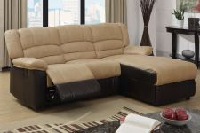 Buy sofa sectional couch recliner 2 piece Living room furniture Leather sofa chaise