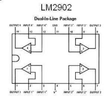 Buy IC - LM2902 Quad Low-Power Op Amp IC (DIP-14) - 6 Pieces