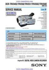 Buy Sony TRV355 Manual by download Mauritron #315837