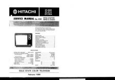 Buy Hitachi CT3170 Service Manual by download Mauritron #289593
