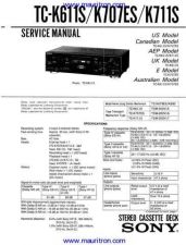 Buy Sony TC-K611S by download Mauritron #312669