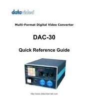 Buy Datavideo DAC15 Operating Guide by download Mauritron #324908