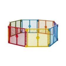 Buy Gate Baby Toddler Pen Pet Play Yard Portable Hardwood Floor Carpet Plastic Panel