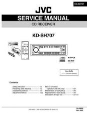 Buy JVC KD-SH707 Service Manual Circuits Schematics by download Mauritron #275231