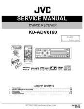 Buy JVC KD-ADV6160 Service Manual Circuits Schematics by download Mauritron #274811