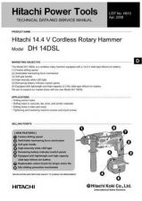 Buy Hitachi DH14DSL Tool Service Manual by download Mauritron #319799