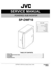 Buy JVC SP-DWF10 Service Manual by download Mauritron #283425