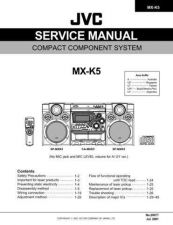 Buy JVC MX-K5UW Service Manual by download Mauritron #277963