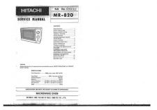 Buy Hitachi MR-820 Service Manual by download Mauritron #285406