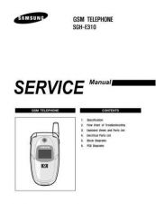 Buy Samsung SGH-E310 Mobile Phone Service Manual by download Mauritron #306319