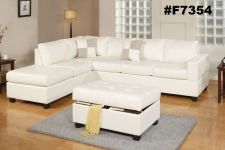 Buy Sectional sofa sectionals with reversble L/R chaise sofa couch 3 Pc set #F7354