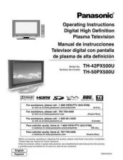 Buy Panasonic TH50PX500U Television User Guide by download Mauritron #320223