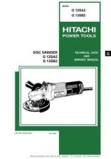 Buy Hitachi G12SA2 Tool Service Manual by download Mauritron #319977