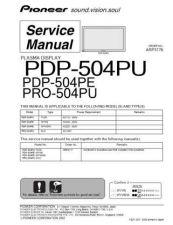 Buy Panasonic PDP-504PU-PE-PU Manual by download Mauritron #301132