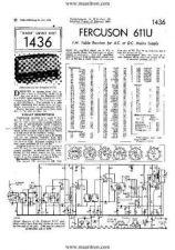 Buy FERGUSON. 611U. Vintage Wireless. Service Sheets. by download Mauritron #327464