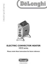 Buy De Longhi HCO series(3) Convector Heater Operating Guide by download Mauritron #31643