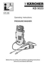 Buy Karcher KB 9020 Washer Operating Guide by download Mauritron #315596