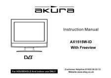 Buy Akura AX1515W-ID IB Service Manual by download Mauritron #330333