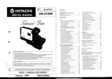 Buy Hitachi VM5000A3 Service Manual by download Mauritron #290997