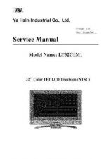 Buy YA Hsin LT32C1M1 Television Service Manual by download Mauritron #322322