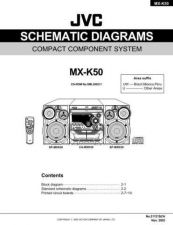 Buy JVC MX-K50SCHUW Service Manual by download Mauritron #277959