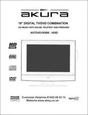 Buy Akura ASTDVD1938W-HDID Manual Service Manual by download Mauritron #330301