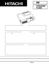 Buy Hitachi PJ-TX100W_FR Service Manual by download Mauritron #290723