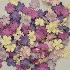 """Buy 100 MIXED MULBERRY PAPER ARTIFICIAL PETAL FLOWER PURPLE TONE COLOR DIA 2.5 cm/1"""""""