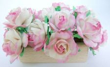 Buy 50 PINK ARTIFICIAL MULBERRY PAPER BIG FLOWER WEDDING SCRAPBOOK CARD DAI 2.5 CM