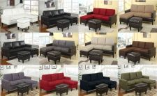 Buy Corner Sectional Sofa Couch Sectionals in Microfiber & Leather With Free Ottoman