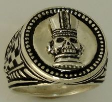 Buy Bishop Chess piece Mens Signet ring Sterling Silver