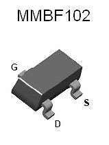 Buy SMT FET - MMBF102 N-Channel, RF Amplifier (SOT-23) - 18 Pieces