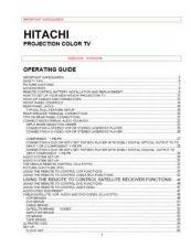 Buy Hitachi 61SBX59B Service Manual by download Mauritron #288482